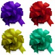 Decor satin bows isolated — Stock Photo