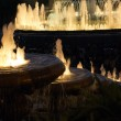 Fountain night — Stock Photo