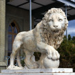 Lion marble sculpture — Stock Photo