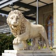 Stock Photo: Lion marble sculpture