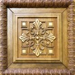 Wooden door decoration — Stock Photo
