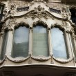 Stock Photo: Facade house window and balcony of Barcelona. Spain