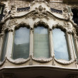 Facade house window and balcony of Barcelona. Spain — Stock Photo