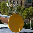 Satellite dish antenna — Stockfoto