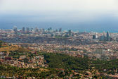 Panoramic View of Barcelona, Spain. — Stock Photo