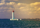 Vorontsov lighthouse vintage background — Stock Photo
