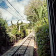 Funicular railway.Tibidabo. Barcelona. — Stock Photo
