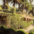 Stock Photo: Ancient aqueduct in park Guell