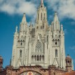 Church Sacred Heart.Tibidabo. Barcelona. — Stock Photo