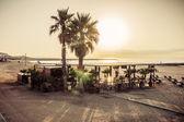 Cafe Beach Barcelona. Catalonia, Spain — Stock Photo