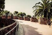 バルセロナのグエル公園。カタロニア、スペイン — ストック写真