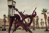 Sculpture Barcelona. Catalonia, Spain. — Stock Photo