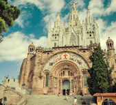 Church Sacred Heart.Tibidabo. Barcelona. — Stockfoto