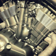 Stock Photo: Engine close-up detail