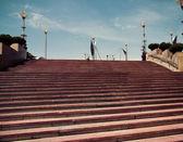 Stairway stone Barcelona. Catalonia, Spain. — Stock Photo