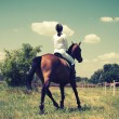 Stock Photo: Horse and rider