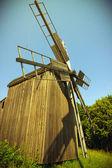 Wooden windmills — Stock Photo
