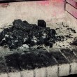 Stock Photo: Fireplace ash