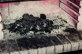 Open haard ash — Stockfoto
