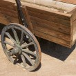 Vintage wooden cart — Stock Photo #38409113