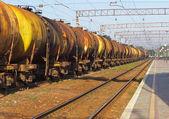 Танков по железной дороге — Стоковое фото