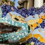 Mosaic head lizard — Stock Photo