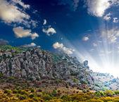 Rocks mountain landscape — Stock Photo