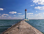 Vorontsov lighthouse in Odessa — Stock Photo