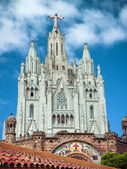 Church Sacred Heart.Tibidabo. Barcelona. — Foto de Stock