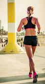 Running fitness training — Stock Photo