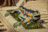 Lizard in Park Guell in Barcelona, Spain. — 图库照片