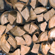 Firewood logs in a pile — Stock Photo #44905047