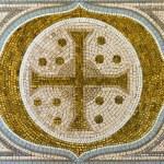 Cross mosaic tile — Stock Photo #44905049