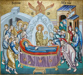 Virgin Mary decoration mosaic — Stock Photo
