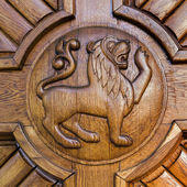 Lion door — Stock Photo