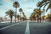 In the streets Port Vell of Barcelona. Spain. — Stock Photo