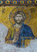 Christian mosaic icon of Jesus Christ — Stock Photo