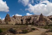 Stone cave city in Cappadocia — Stock Photo