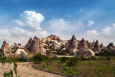 Cave mountain city in Cappadocia — Stock Photo