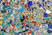 Glass debris background wall in Istanbul, Turkey — Stock Photo