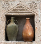 Old ceramic pots in Cappadocia, Turkey. — Stock Photo
