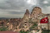 Uchisar in Cappadocia, Turkey — Stock Photo