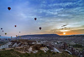 Air balloon flying Cappadocia — Stock Photo