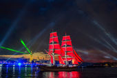 Festival Scarlet Sails celebrates its tenth anniversary. — Stock Photo