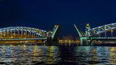 Bridge in the city of St. Petersburg, Russia — Stock Photo