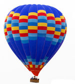 Hot air balloon isolated on white — Stock Photo