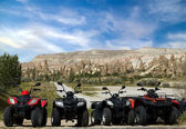 Quad bike on valley Goreme — Stock Photo
