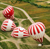 Inflation of a hot air balloon. Turkey. — Stock Photo
