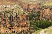 Mountain landscape in Cappadocia, Turkey — Stockfoto