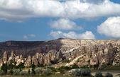 Mountain landscape, Goreme, Cappadocia, Turkey — Stok fotoğraf
